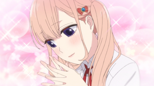 Koi to Uso / Episode 2 / Ririna thinking about the joys of love and romance