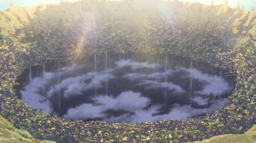 Made in Abyss / Episode 1 / The city of Orth which surrounds the Great Pit, otherwise known as the Abyss