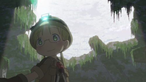 Made in Abyss / Episode 9 / Riko standing within some ruins in the third layer