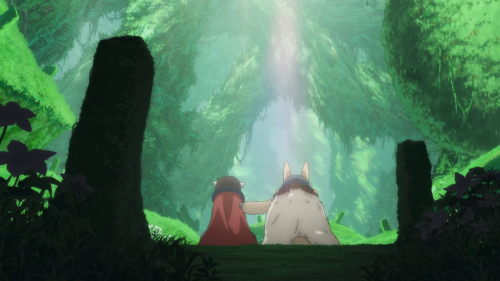 Made in Abyss / Episode 13 / Reg and Nanachi sharing a poignant moment together