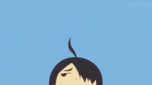 Koyomimonogatari / Episode 4 / Araragi suspicious of Kanbaru