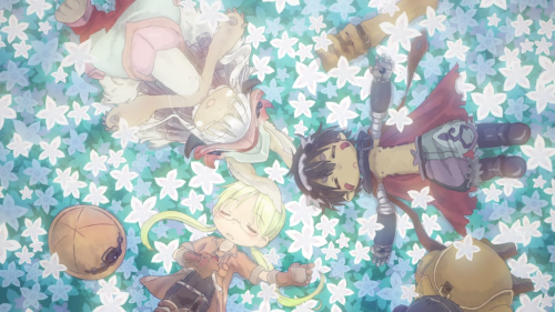 Made in Abyss / Episode 10 / A frame taken from the ending track of the anime