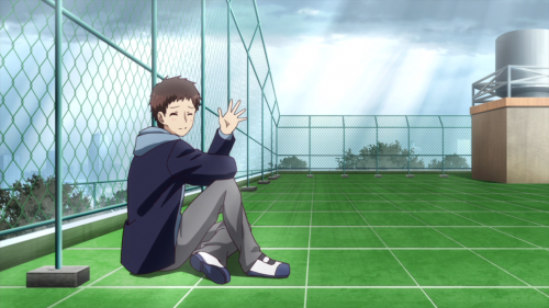 Netsuzou TRap / Episode 12 / Takeda waving goodbye to Yuma