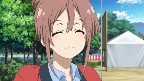 Sakura Quest / Episode 9 / Shiori smiling wide