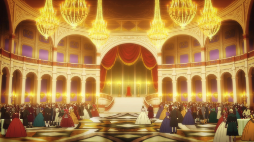 Shingeki no Bahamut: Virgin Soul / Episode 19 / The royal ball Charioce holds