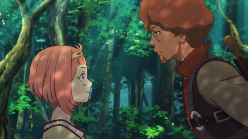 Shingeki no Bahamut: Virgin Soul / Episode 9 / Favaro teaching Nina the ropes of combat