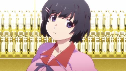 Owarimonogatari 2nd Season / Episode 3 / Hanekawa pouting hard