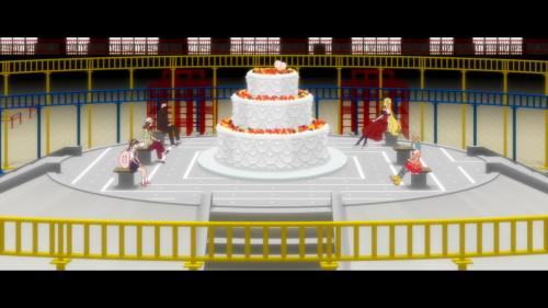 Owarimonogatari 2nd Season / Episode 3 / Araragi, Gaen, Hachikuji, Shinobu, and Ononoki enjoying some tea time together