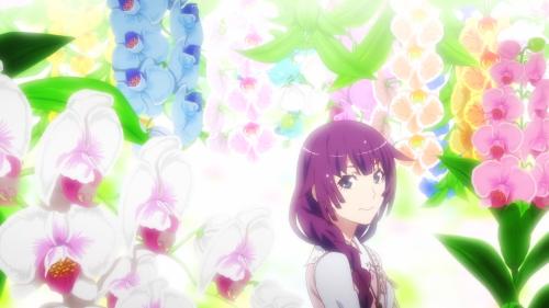 Owarimonogatari 2nd Season / Episode 2 / Senjougahara among the flowers
