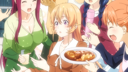 Shokugeki no Souma: San no Sara / Episode 6 / Erina making lots of friends, at Polar Star Dormitory no less, for the very first time