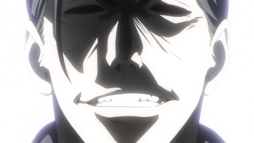 Shokugeki no Souma: San no Sara / Episode 5 / Azami smiling viciously as his new evil plan begins