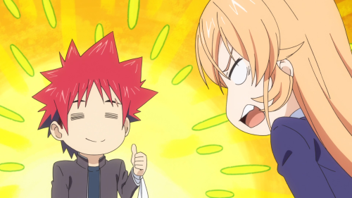 Shokugeki no Souma: San no Sara / Episode 1 / Erina getting mad at Souma (per usual)