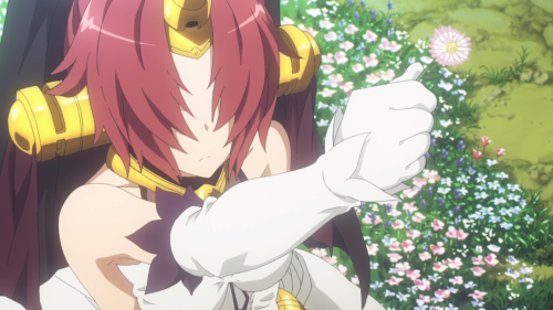 Fate/Apocrypha / Episode 3 / Frankenstein holding out a pretty flower out of kindness