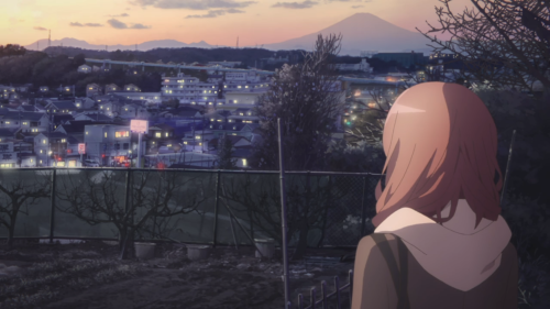 Just Because! / Episode 12 / Mio looking out over the nearby city