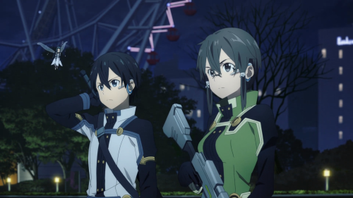 Sword Art Online Movie: Ordinal Scale / Kirito and Sinon about to fight against a boss together