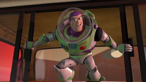 Toy Story / Buzz with Woody in the Pizza Planet truck