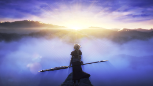 Fate/Apocrypha / Episode 5 / Jeanne looking out over a valley