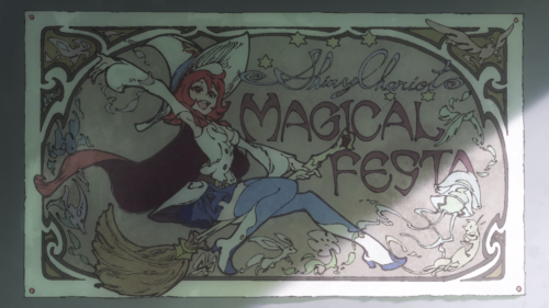 Little Witch Academia (TV) / Episode 2 / Akko's favorite poster of Shiny Chariot