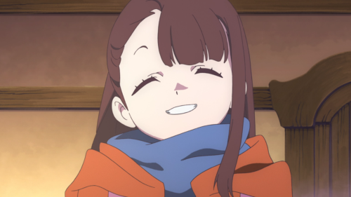 Little Witch Academia / Episode 1 / Akko smiling bright