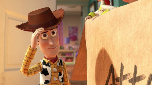 Toy Story 3 / Woody tipping his hat in acknowledgement