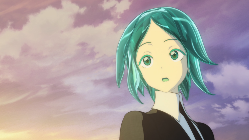 Houseki no Kuni / Episode 1 / Phos responding to and listening to Cinnabar