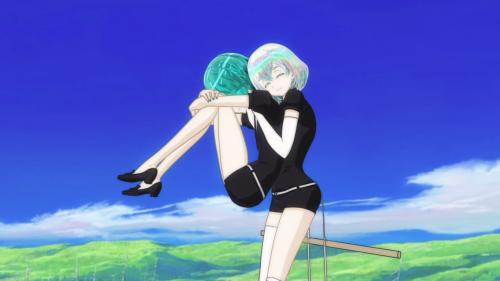 Houseki no Kuni / Episode 2 / Dia picking up Phos to apologize