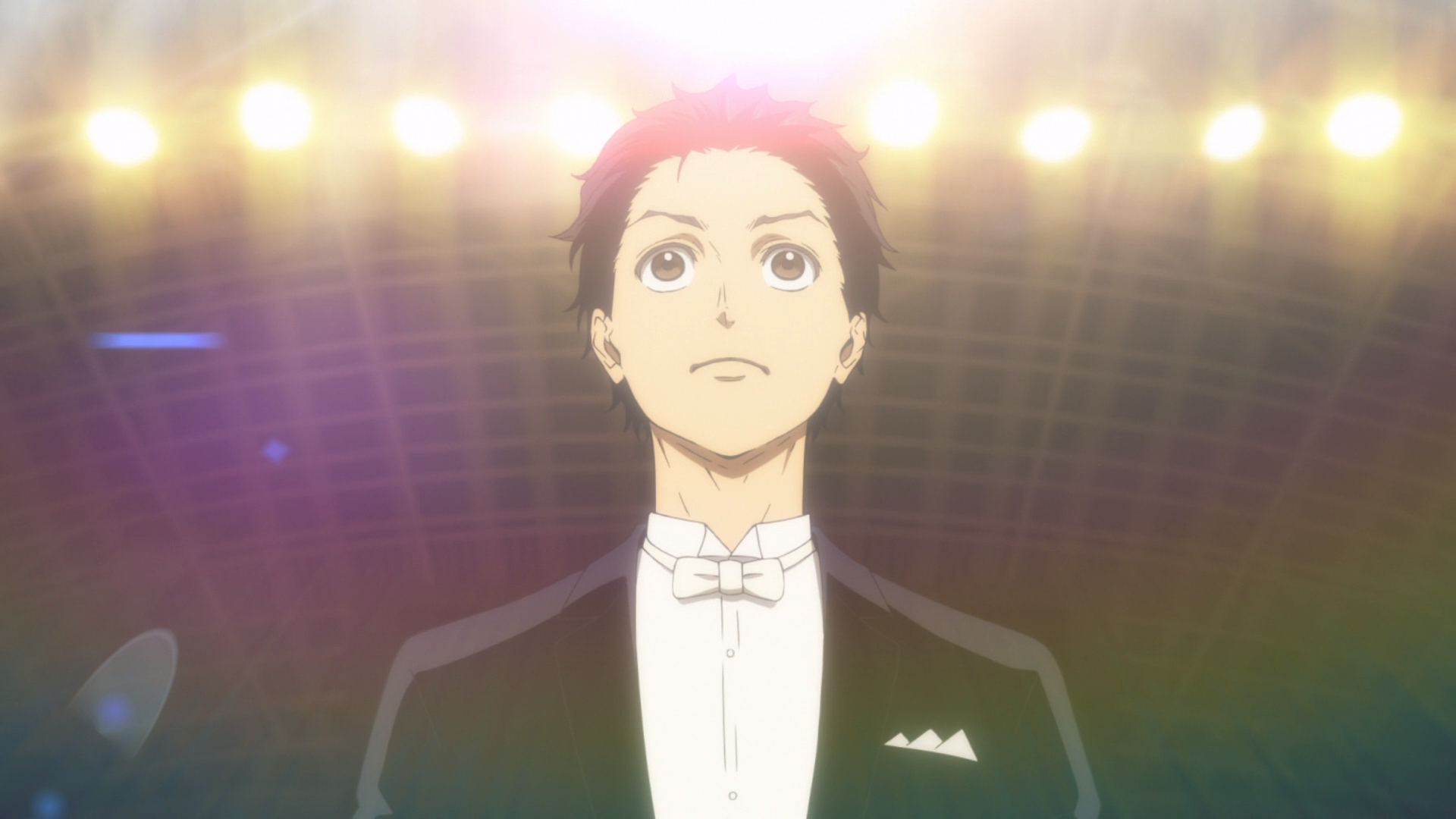 Ballroom e Youkoso / Episode 3 / Tatara readying himself for his first live dance