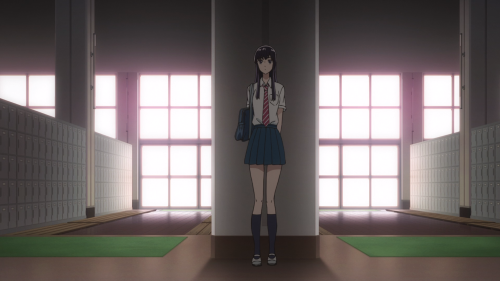 Koi wa Ameagari no You ni / Episode 6 / Akira hiding behind a pillar