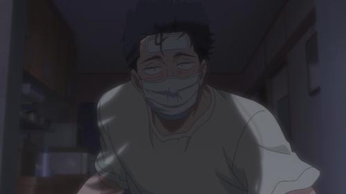Koi wa Ameagari no You ni / Episode 7 / Mr. Kondou, a bit under the weather, greeting Akira