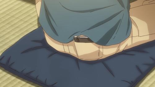 Koi wa Ameagari no You ni / Episode 9 / Mr. Kondou keeping his writing secret safe in his back pocket