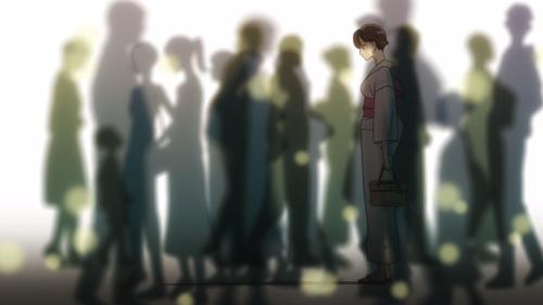Koi wa Ameagari no You ni / Episode 9 / Akira all alone amidst a bustling crowd