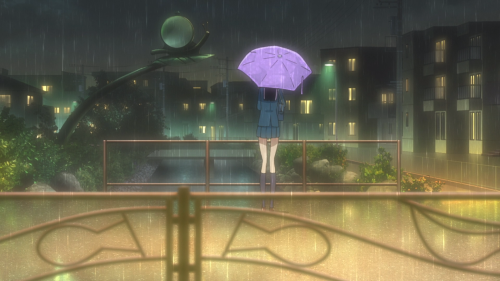 Koi wa Ameagari no You ni / Episode 11 / Akira standing outside in the rain
