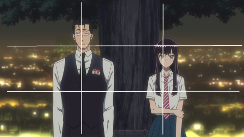 Koi wa Ameagari no You ni / Episode 3 / Mr. Kondou and Akira standing side-by-side