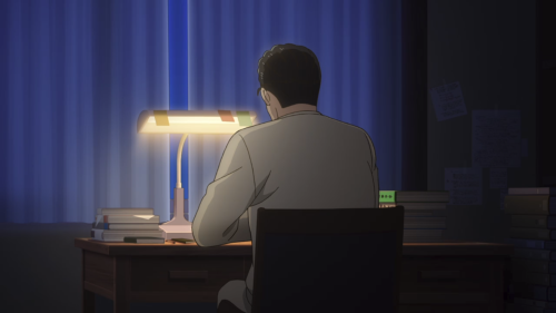 Koi wa Ameagari no You ni / Episode 11 / Mr. Kondou attempting to write once again