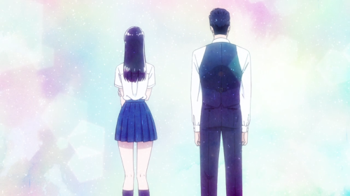 Koi wa Ameagari no You ni / Episode 3 / Akira and Mr. Kondou standing together