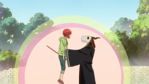 Mahoutsukai no Yome / Episode 12 / Chise getting back home after having her magical staff forged