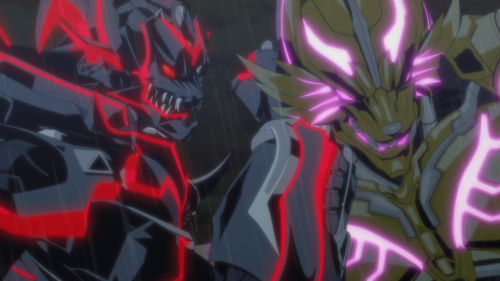 Garo: Vanishing Line / Episode 8/ Dark Knight and Golden Knight engage in hand-to-hand combat