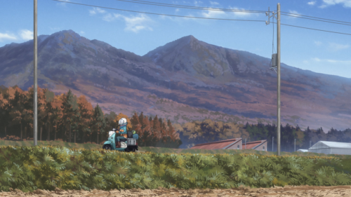 Yuru Camp△ / Episode 4 / Rin riding through the countryside