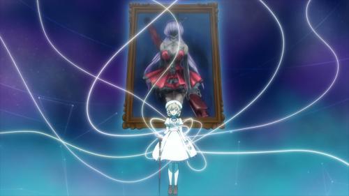 "Kyokou Suiri / Episode 9 / Kotoko ""inside"" the Internet to begin her explanations"
