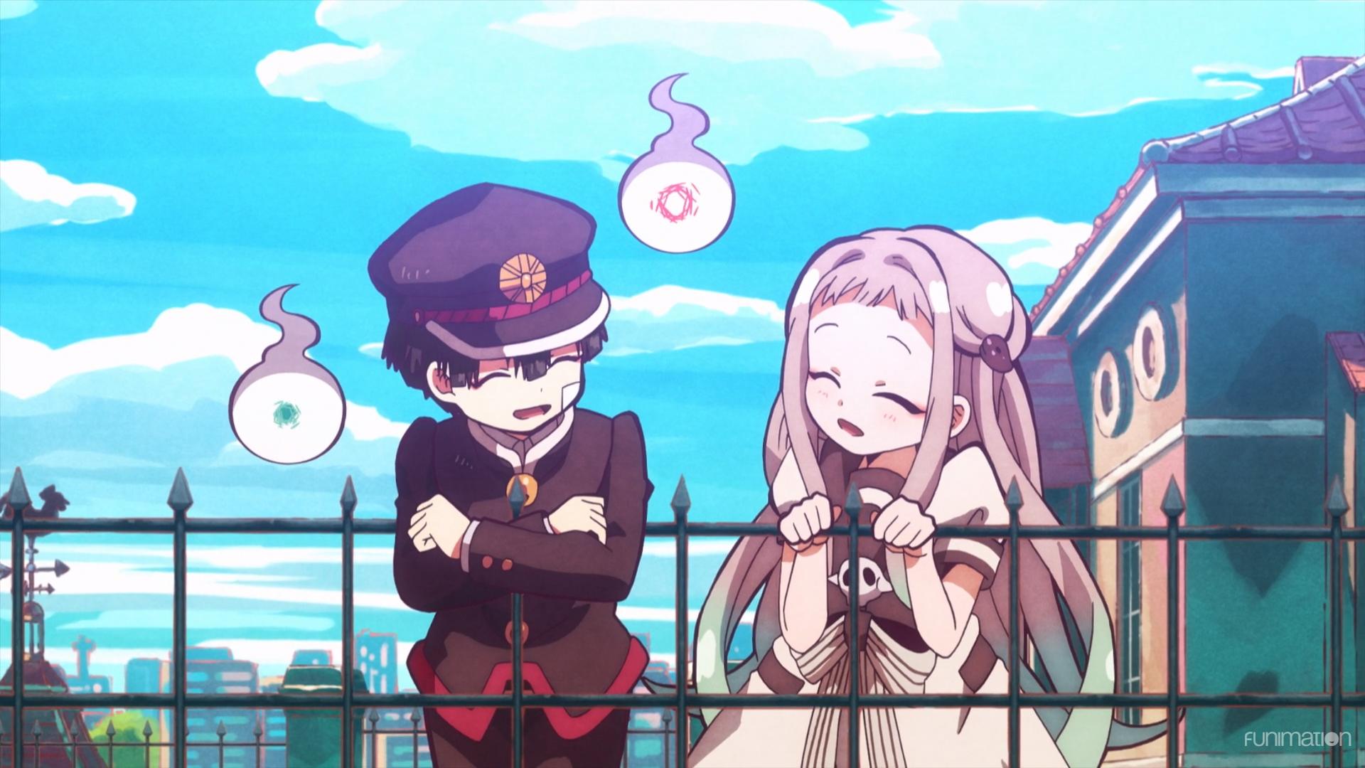 Jibaku Shounen Hanako-kun / Episode 2 / Hanako and Yashiro hanging out together